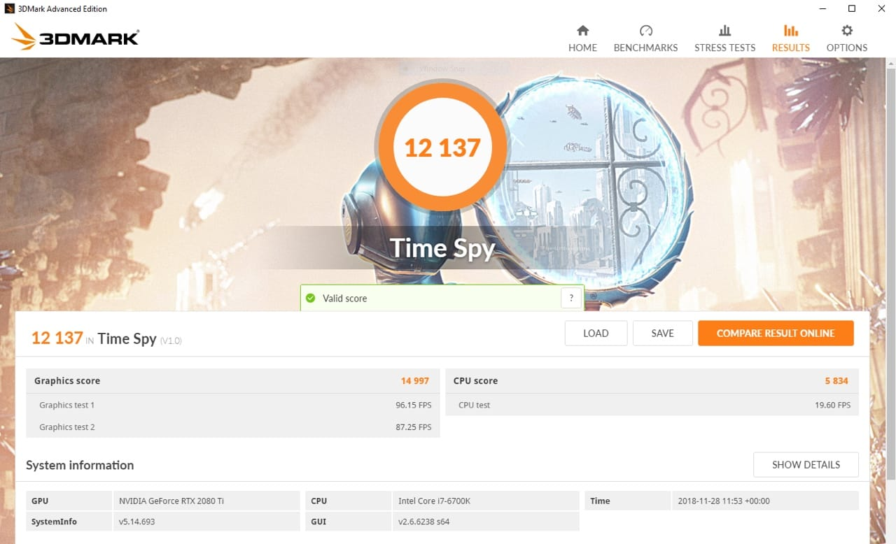 GeForce RTX - 3DMark Score