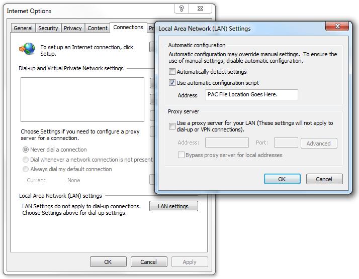 Proxy Auto-Config File